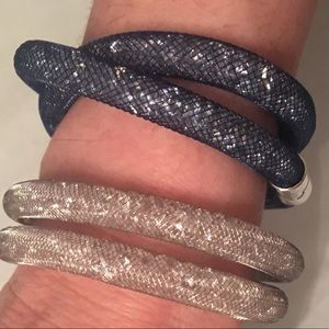 blue Swarovski Stardust Bracelet /Choker crystal